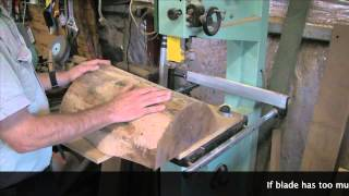 Simple Jig For Cutting A Bowl Blank