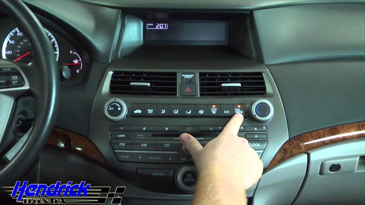 Honda Accord: Dual Temperature Control