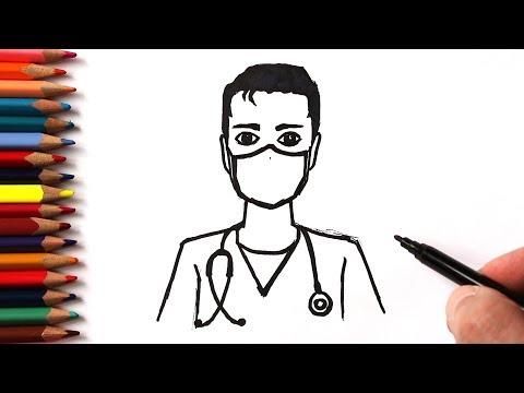Как нарисовать Доктора легко | Простые рисунки