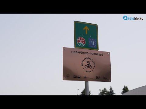 Mostantól tábla mutatja Tiszafüreden: ez az Év Kerékpárútja! | Alfoldhir.hu