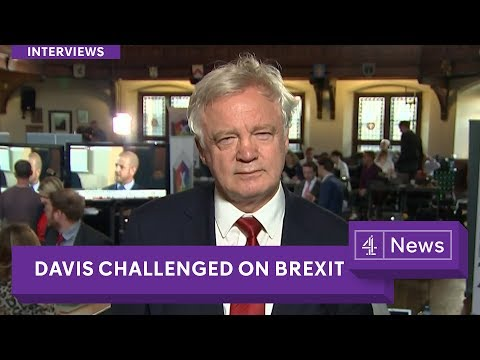 David Davis challenged on 'lying' in politics by Krishnan Guru-Murthy on Channel 4 News