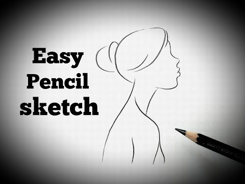 Easy Pencil Sketch Drawing For Beginners Outline Sketch Drawing Tutorial Pencil Sketching Youtube