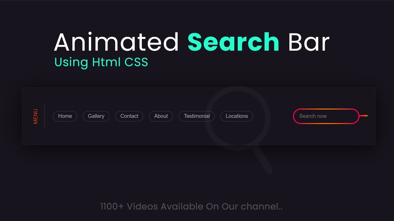 How to Make Animated Search Bar For Web Design in HTML CSS - Web Design