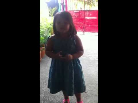 Clio a 3year old singer