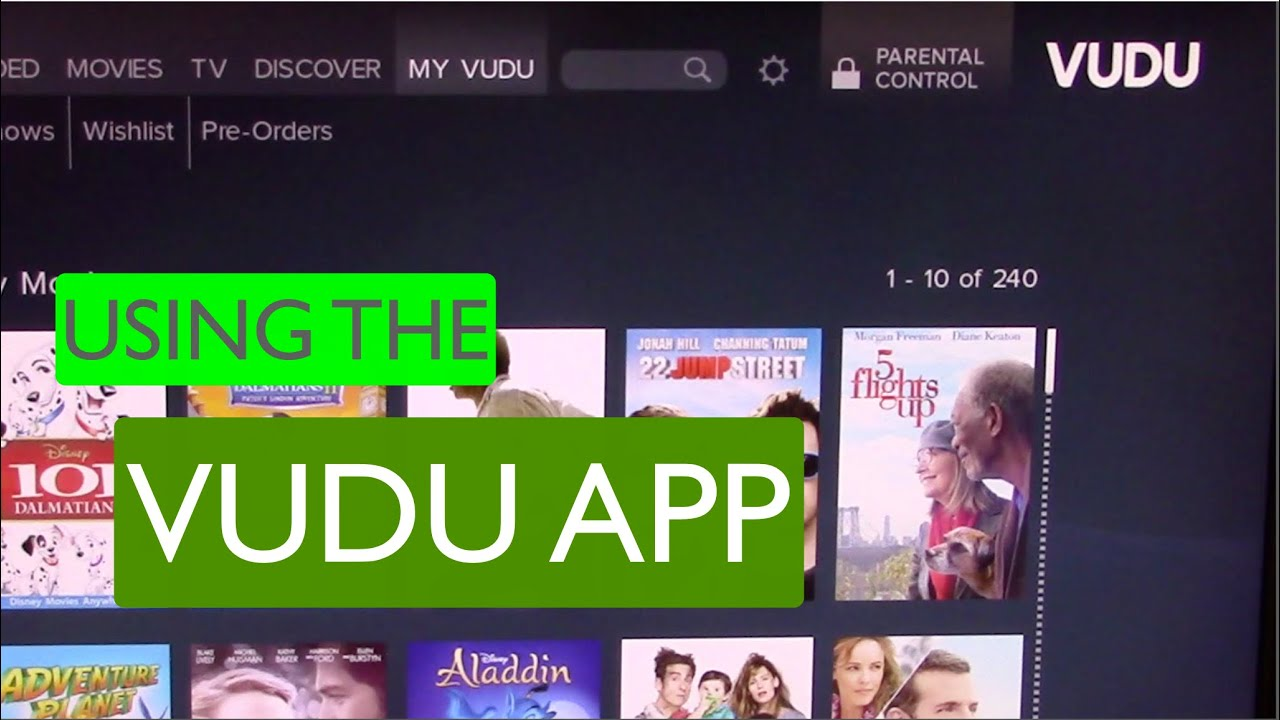 Using the Vudu app on a Roku - Deerfield Library eTutor