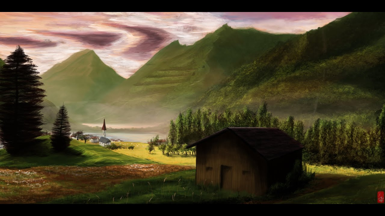 Japanese Art Wallpaper Hd Digital Painting About Landscape By Cloud Double Speed