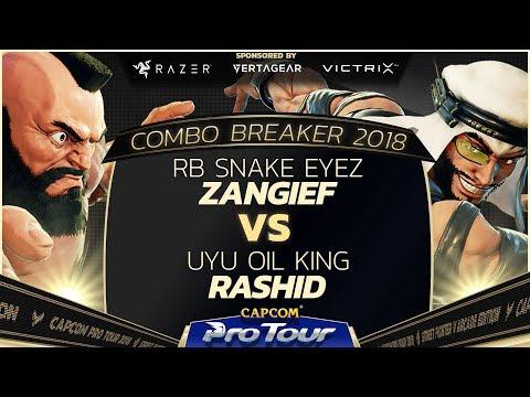 RB Snake Eyez (Zangief) vs UYU Oil King (Cammy) - Combo Breaker 2018 Pools - Day 1 - CPT 2018