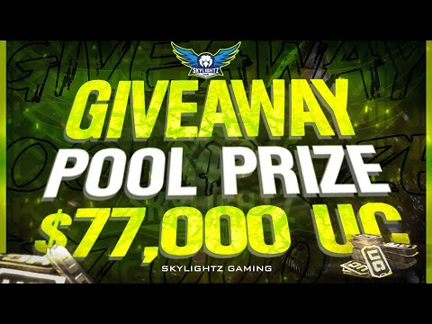 MEGA GIVEAWAY SKYLIGHTZ GAMING | 77000 UC POOL PRIZE EQUIVALENT TO 100 ROYALE PASS | PUBG MOBILE
