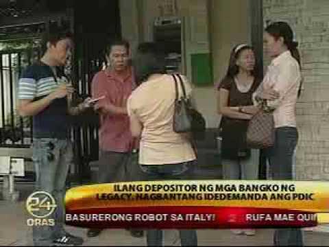 GMANews TV Depositors of Legacy banks threaten to sue PDIC