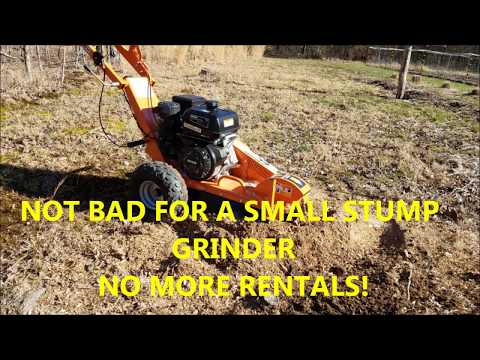 Power-King Stump Grinder With Sharp Teeth, PART 1