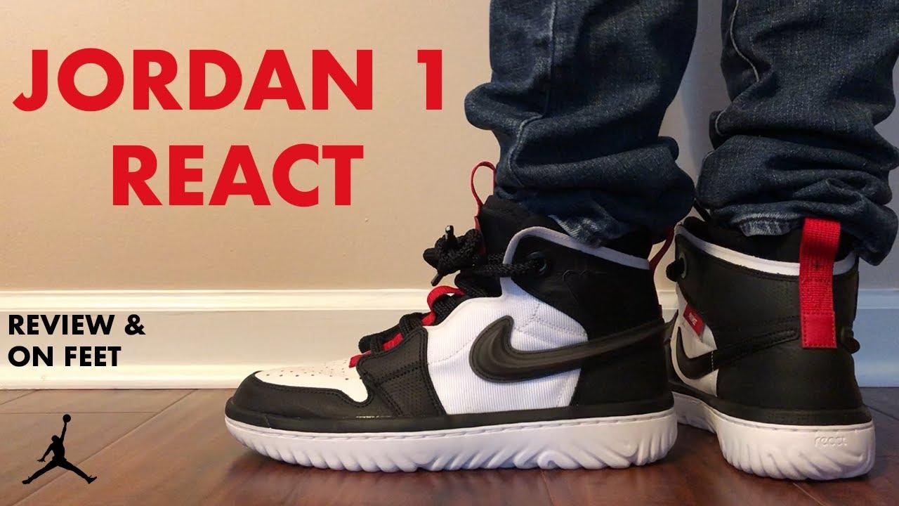 air jordan 1 on feet