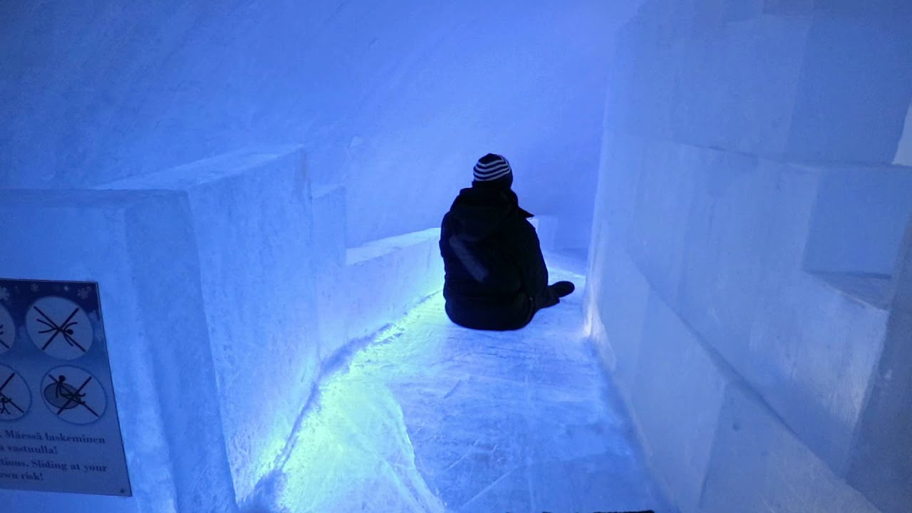 Ice Slide at the Kemi Snow Castle! - YouTube
