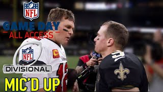 "NFL Divisional Round Mic'd Up! ""They will put a Jordan face on you"" 