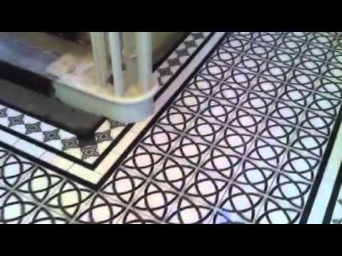 tiles casa ceramica victorian floor tiling part 3 youtube. Black Bedroom Furniture Sets. Home Design Ideas