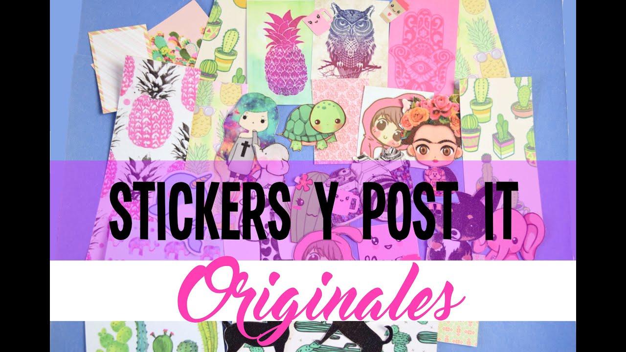 Crea tus propios stickers pegatinas diy back to school - Crea tus pegatinas ...