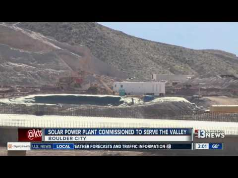 New solar plant near Boulder City