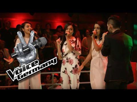 Umbrella - Rihanna | Flavio vs. Mimoza, Vjollca, Shkurte Cover | The Voice of Germany 2016 | Battles
