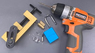 [997] Drilling a Padlock the Fast and Easy Way