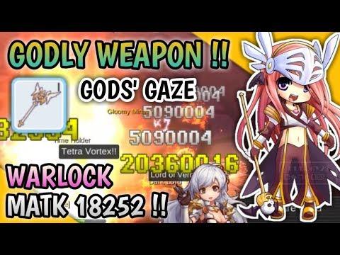 TERCYDUK !! TOM-BAKER WITH HIS GODLY WEAPON WARLOCK 18K MATK GODS' GAZE !! RAGNAROK MOBILE