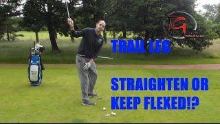 TRAIL LEG   -  STRAIGHTEN OR FLEXED