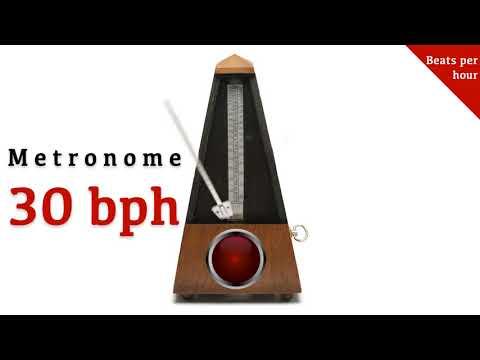 Metronome 30 bph/0.5 bpm 🎼 (beats per hour)
