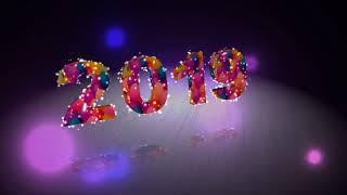 Выпускной 2019 цифра номер футаж 3D Video надпись 2019 Texte ,2019 Number ,figure 2019 ,图2019
