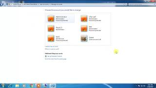 how to create administrator user  account in Windows 7