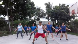 Tatlong bibe zumba dance. By Paul Nunez
