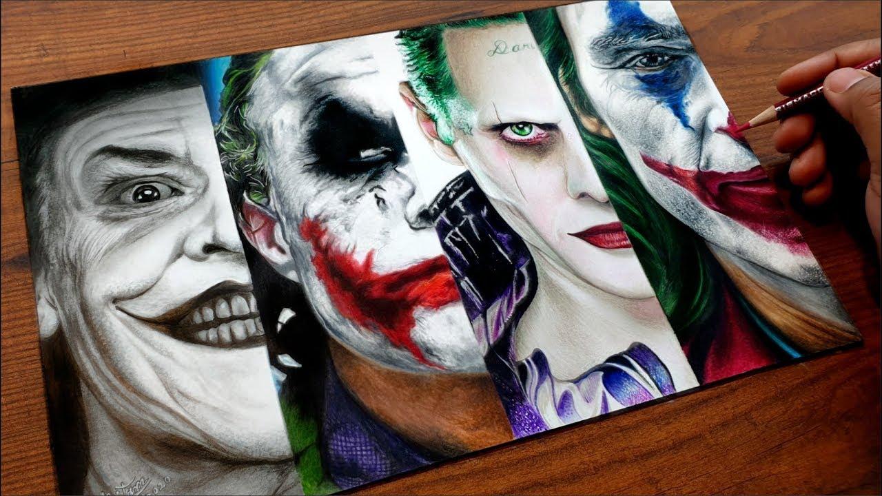 Joker Drawing All Jokers Pritam Saha Arts Youtube