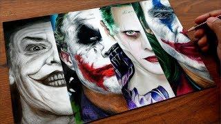 JOKER Drawing - ALL jokers  - Pritam Saha Arts