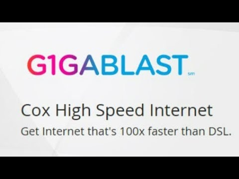 Cox Gigablast with Technicolor modem