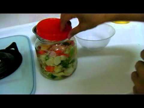 自然發酵泡菜製作 4  小瓶子醃泡菜