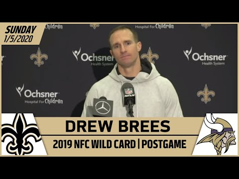Drew Brees Postgame Reactions After Wild Card playoff loss to Vikings | New Orleans Saints Football