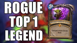 ROGUE QUE ALCANÇOU TOP 1 LEGEND ( Ladino ) | Hearthstone