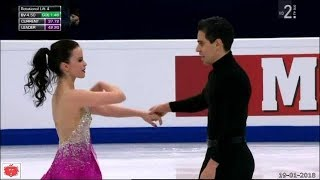 Anna Cappellini e Luca Lanotte  Terzi dopo Short Dance Europei 2018 Mosca