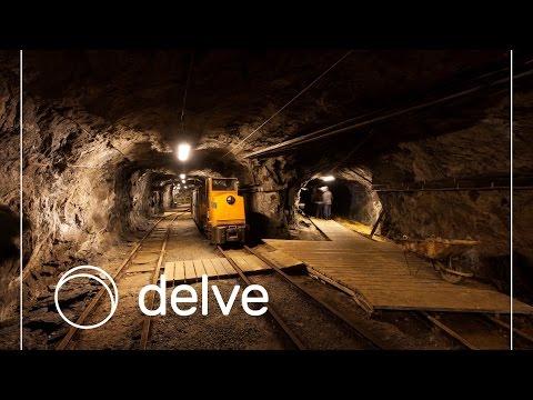 Riding A Train Inside A Old Mine