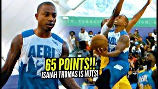 Isaiah Thomas Drops RIDICULOUS 65 POINTS In Atlanta's AEBL!!