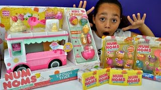 NEW Num Noms Series 2  Lip Gloss Truck - New Num Noms 5 Packs -  DIY Lip Gloss Toy Review