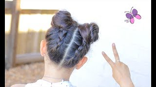 Upside Down Buns | Hairstyles for Girls | Braided Hairstyles | Buns