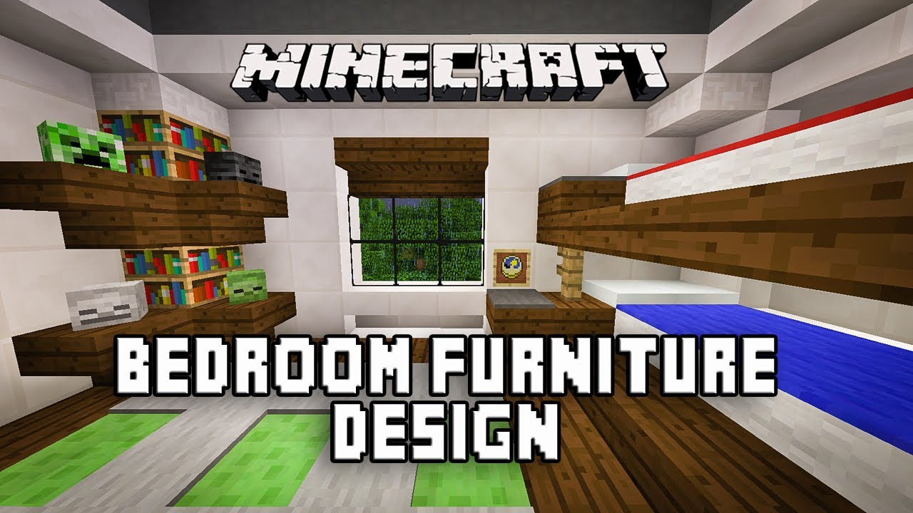 Minecraft Tutorial: How To Make A Modern Bedroom With Bunk Beds (Modern  House Build Ep. 18)   YouTube