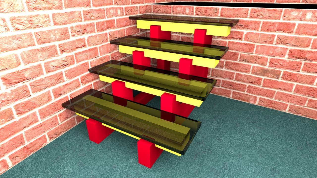 How To Make Stairs With A Glass 3D Model In Sweet Home 3D 01 | Sweet Home 3D Custom Stairs | Mural | Mezzanine | Interior Design | Mezzanine Floor | 3D Models