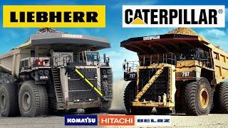 The World's Biggest Mining Dump Trucks! (CAT KOMATSU LIEBHERR BELAZ HITACHI)