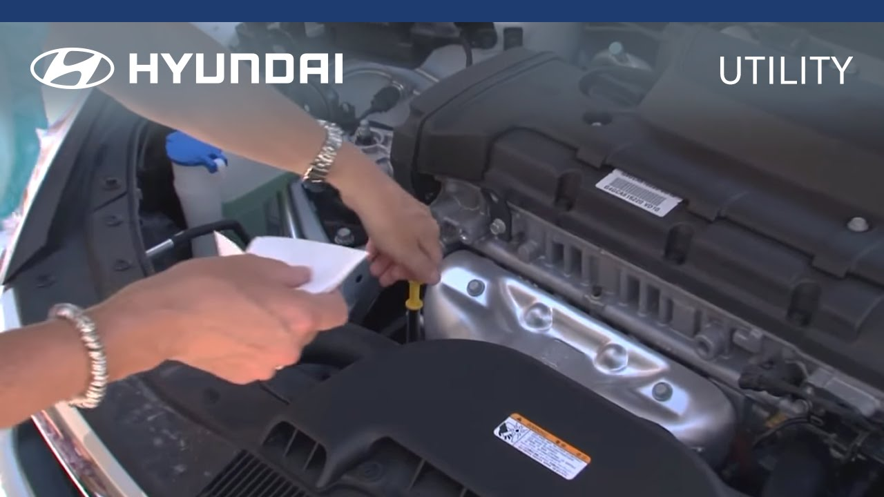 Hyundai Myhyundai How To Check Amp Fill Engine Oil Youtube