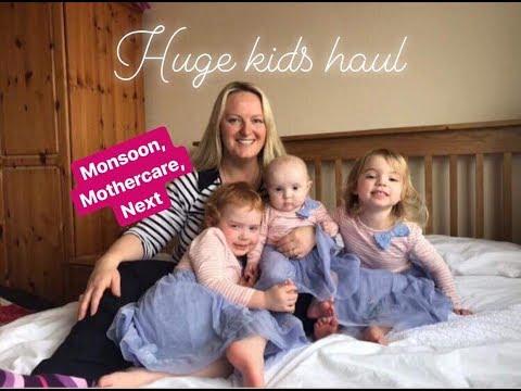HUGE KIDS CLOTHES HAUL / MONSOON / MOTHERCARE / NEXT / SPRING / SALE / MRS RUSHTON