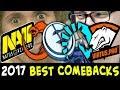 2017 best BASE RACES and COMEBACKS — Dota 2