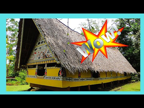 A tour of a traditional Micronesian village, island of YAP (Pacific Ocean)