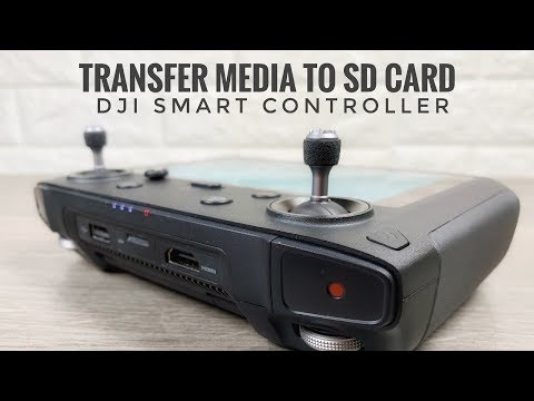 DJI Smart Controller | How To Move & Transfer Media To SD Card