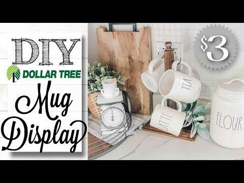 DIY Dollar Tree Mug Holder | $3 PROJECT