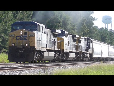[3H] CSX Abbeville Sub: Several Trains of Healthy Size, Hull - Carlton GA, 08/13/2016 ©mbmars01
