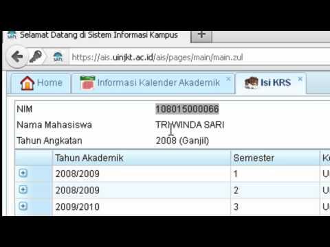 Mengisi KRS Mahasiswa Pada AIS